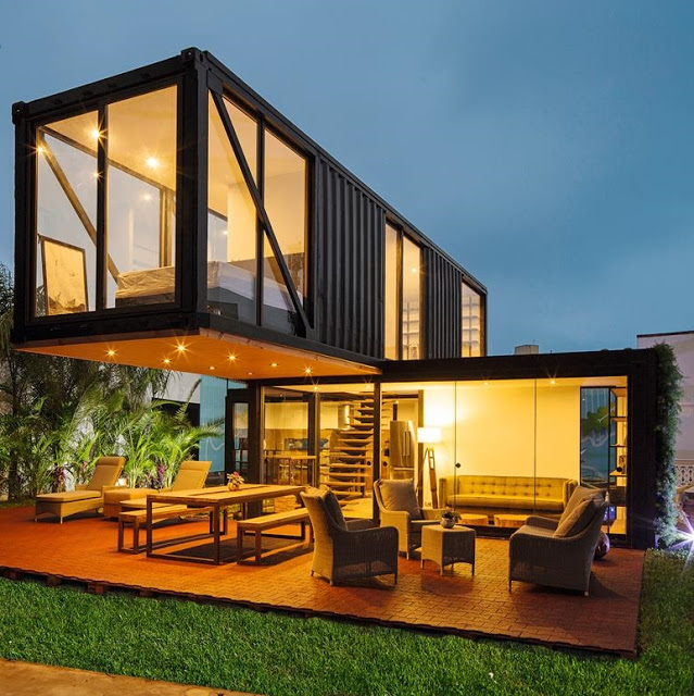 40 Feet Container Homes: Wonderful Two Story Shipping Container Home, Peru