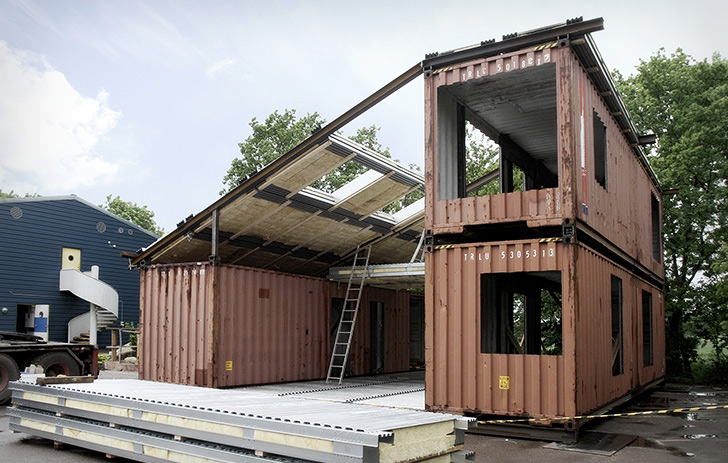 Upcycled Shipping Container House – China 6
