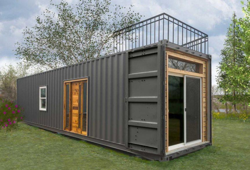 Modern Container Home With Rustic Elements – USA 1