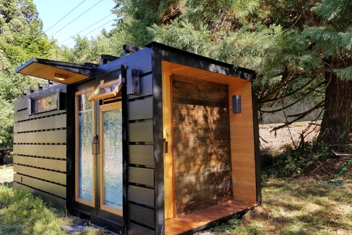 Shipping container turned into compact tiny house for two ...